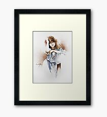 """Lovely Hippy"" Painting in Oils Framed Print"