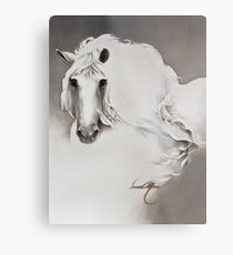 """The Queen"" Painting in Oils Metal Print"