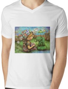 There's an Elephant in my Garden Mens V-Neck T-Shirt