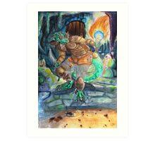 Elder Scrolls Oblivion: Argonian in the Cave Art Print