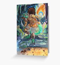 Elder Scrolls Oblivion: Argonian in the Cave Greeting Card