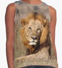 lion portrait  Contrast Tank