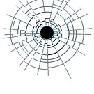 Hole in the glass with black centre. by TOM HILL - Designer