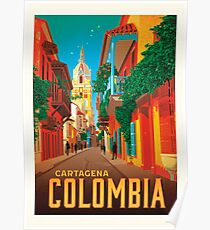 Póster Colombia cartagena