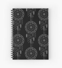 Seamless vector illustration with dream catchers Spiral Notebook