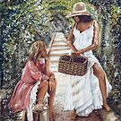 """April and May"" Painting in Oils by John D Moulton"