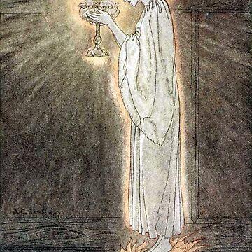 The Quest of the Grail - Arthur Rackham by forgottenbeauty