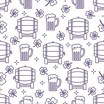 Seamless pattern. St. Patrick's Day. Pab. Ireland by aquamarine-p
