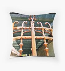 Rusty Gate Throw Pillow