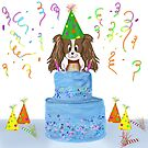 Happy Birthday Cavalier King Charles Spaniel With Cake by daphsam