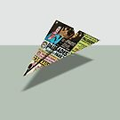 Palisades Comic Book Ad Paper Airplane by YoPedro