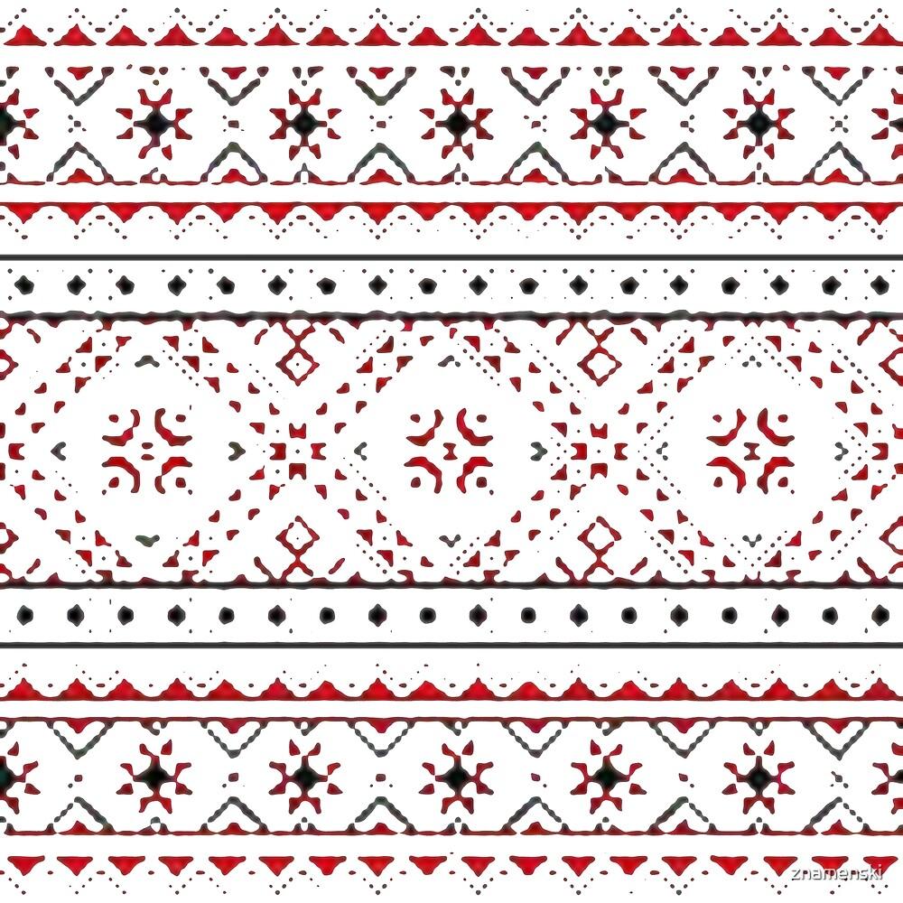 Ukraine Traditional Art, pattern, decoration, embroidery, textile, ornate, craft, tapestry, art, flower, slavic, abstract, seamless pattern, geometric shape by znamenski