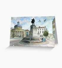 """""""Pointing Home"""" - The Cornhill, Bridgwater, Somerset Greeting Card"""