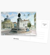 """""""Pointing Home"""" - The Cornhill, Bridgwater, Somerset Postcards"""