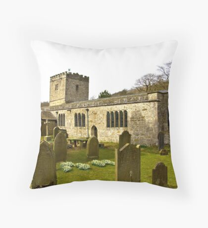 Hubberholme Church Throw Pillow