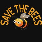 Save The Bees Beekeeping T-Shirts by grissou