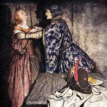 Tristan and Isolde - Arthur Rackham by forgottenbeauty