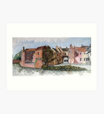 """""""Old Canal Route Into Highbridge, Somerset"""" Art Print"""