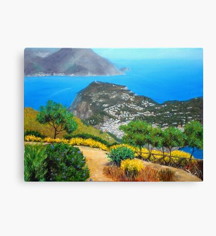 Over to the main land Canvas Print
