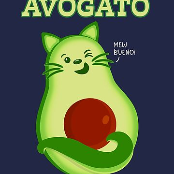 Avocado Keto Kitty Cat Winking At You by brodyquixote