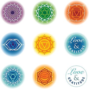 Chakra bottle stickers by RedCloudDesign