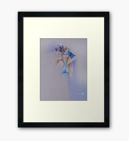 """Der Traum"" Pastel Pencil Artwork Framed Print"