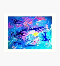 The coral beneath the waves Art Print