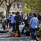 Musicians in Washington Square Park by Elena Vazquez