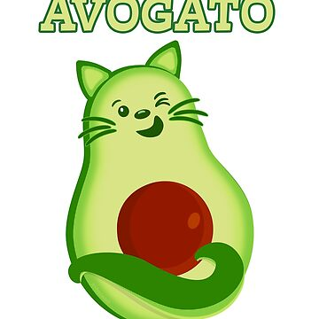Avocado Keto Kitty Cat Winks At You by brodyquixote