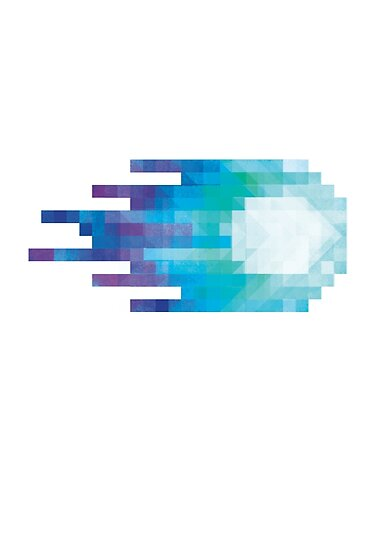 Quot Blue Pixel Fireball Quot Posters By Carlydraws Redbubble