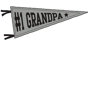 Number 1 grandpa-pennant by familyman