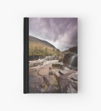 Glen Etive waterfall Hardcover Journal