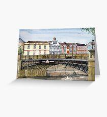"""""""Walter's Bridge"""" - Bridgwater, Somerset Greeting Card"""