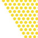 Dot Cascade, Mustard Yellow and White by kierkegaard