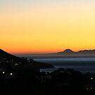 Sunset over the Cape peninsula by Rudi Venter