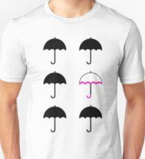 Sechs Regenschirme Slim Fit T-Shirt