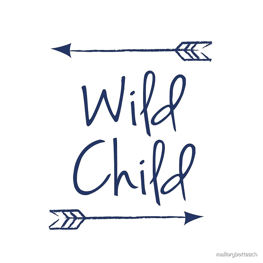 Wild Child in Navy Blue by mallorybottesch