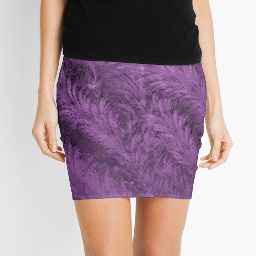 Purple ice swirls Mini Skirt