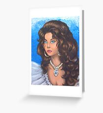 Lady Saphire Greeting Card