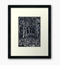 Broccoli Trees Framed Art Print