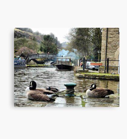 Rochdale canal  Canvas Print