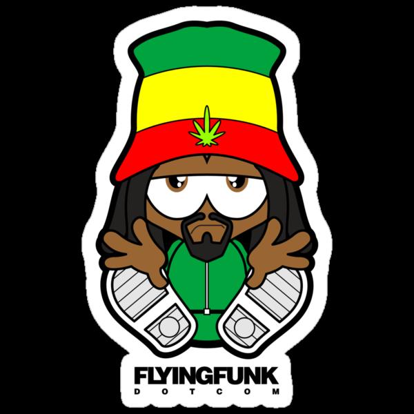 """Rasta"" Stickers by Flying Funk | Redbubble"