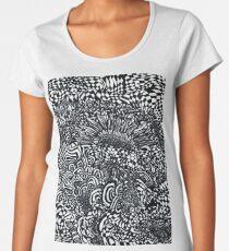 Abstract Sunflowers Premium Scoop T-Shirt