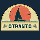 Vintage Otranto Italy Sailing Vacation Badge by dk80