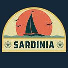 Vintage Sardinia Italy Sailing Vacation Badge by dk80