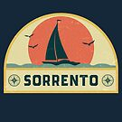 Vintage Sorrento Italy Sailing Vacation Badge by dk80