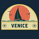 Vintage Venice Italy Sailing Vacation Badge by dk80