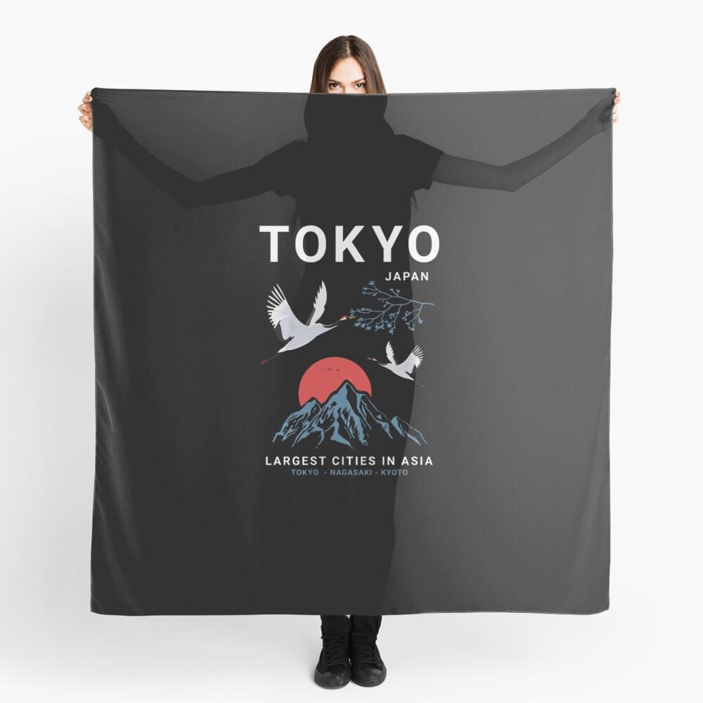 Tokyo - I don't speak Japanese White Version  Scarf