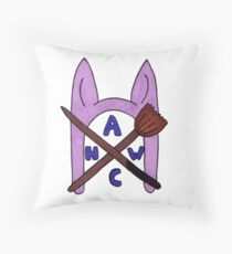 Animal Hat Witch Coven Official Logo Throw Pillow