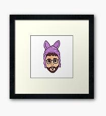 Bryan Fuller In A Bunny Hat Framed Print